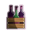 sticker different wine bottles icon vector image vector image