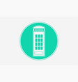 telephone box icon sign symbol vector image vector image