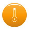 thermometer warmly icon orange vector image vector image