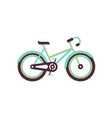 turquoise and yellow bike modern bicycle vector image vector image