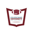 university college logo vector image vector image