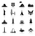 us monuments and icons vector image