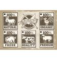Vintage Labels Page for Butcher Shop vector image