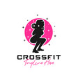 young women fitness sports inspiration logo vector image