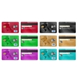 Credit cards set realistic style vector image