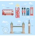 London travel info graphic of vector image