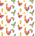 Easter seamless pattern with hen and nest hen and vector image
