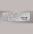 Banner with silver glitter background sparkling