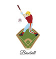 baseball batter in flat style vector image