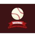 baseball championship ball vector image vector image