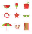 beach items vector image vector image