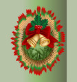 bells and new year tree vector image