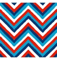 Blue White Red Painted Chevron Pattern vector image
