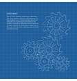 blueprint background with gears or cogwheels vector image