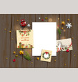 card with festive blanks vector image vector image
