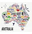 Cartoon map of Australia vector image vector image