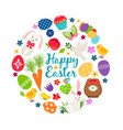 cartoon spring happy easter printable vector image vector image