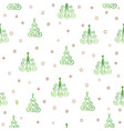 christmas tree snow star seamless pattern holiday vector image vector image