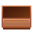classic nightstand icon cartoon style vector image vector image