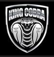 cobra silver head head snakemascot logo vector image vector image