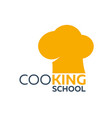 cooking school logo cooking academy vector image