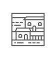 cottage landscape line icon vector image vector image