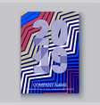 cover annual report numbers 2016 modern design vector image