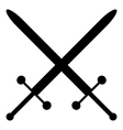 Crossed swords icon vector image vector image