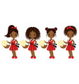 cute little african american girls vector image vector image