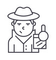 detective line icon sign on vector image vector image