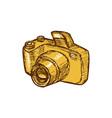 Digital Camera Drawing vector image vector image