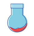 erlenmeyer flask to scientific experiment lab vector image