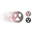 fragmented pixel halftone wonder smiley icon vector image vector image