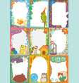 frame kids photo picture of cartoon animals pets vector image vector image