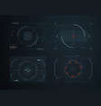 futuristic hud virtual control panels hologram vector image