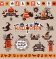 halloween monochrome emblems for decoration vector image vector image