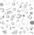 Hand drawn food seamless pattern