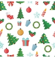 Happy New Year and Marry Christmas Seamless vector image vector image