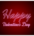 happy valentines day neon text vector image vector image