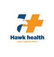 hawk health logo designs vector image vector image