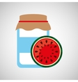 jar cute blue with jam watermelon graphic vector image