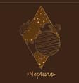 landscap of planet rhombus neptune vector image vector image