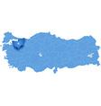 Map of Turkey Bursa vector image