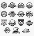 mountain bike logo badge vector image
