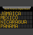 north america country digital board information vector image vector image
