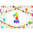number one made up from bright colorful balloons vector image vector image
