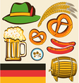 oktoberfest festival objects for design isolated vector image vector image