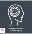 optimism and happiness vector image vector image