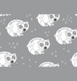 polar bears seamless pattern in white and gray vector image vector image