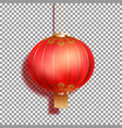 realistic festive chinese red lantern vector image